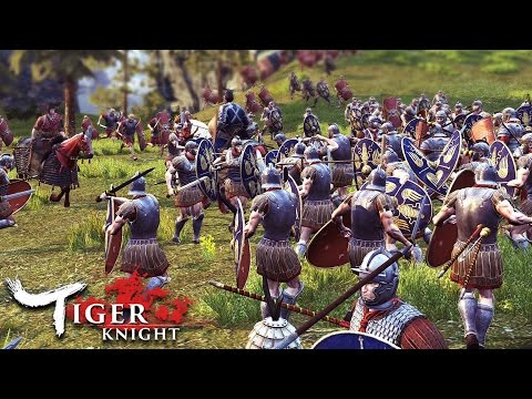 NEW Epic Battles Game!?  HUGE Roman Army Battle (Tiger Knight: Empire War Gameplay)
