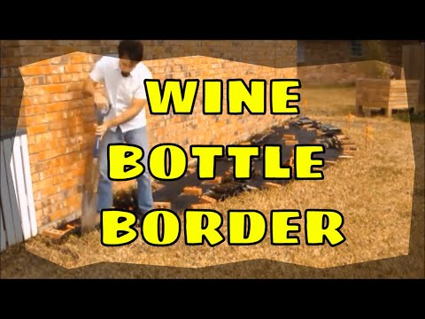 How To Make A Wine Bottle Border Youtube