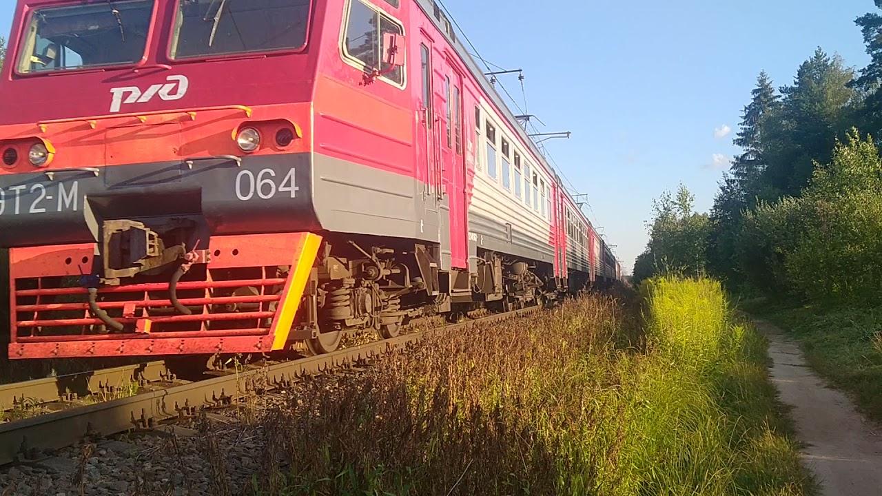 ЭТ2М-064, сообщением СПБ-НЕВДУБСТРОЙ, перегон Мга-Невдубстрой.