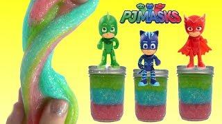 How to Make Do It Yourself PJ Masks Glitter Slime Recipe