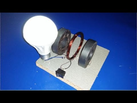 how to make a energy generator free electricity with magnets