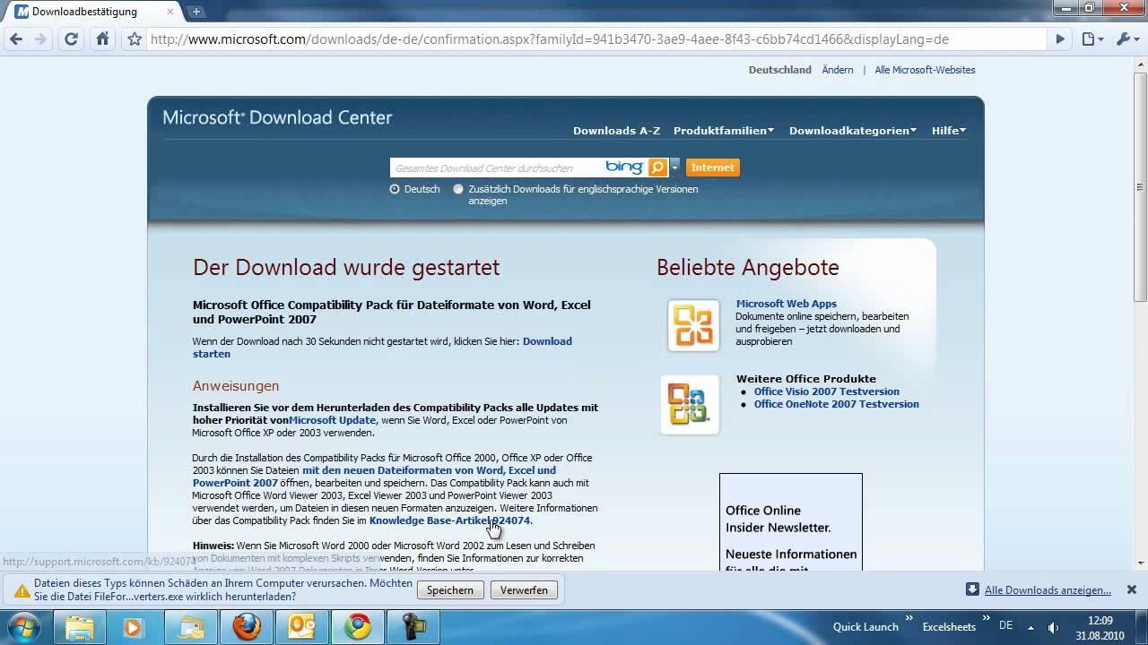 Word 2010 - DOCX-Dateien mit älteren Word-Versionen öffnen ...