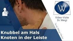 Knubbel hinterm Ohr, am Hals & Knoten in der Leiste: Sind geschwollene Lymphknoten gefährlich?
