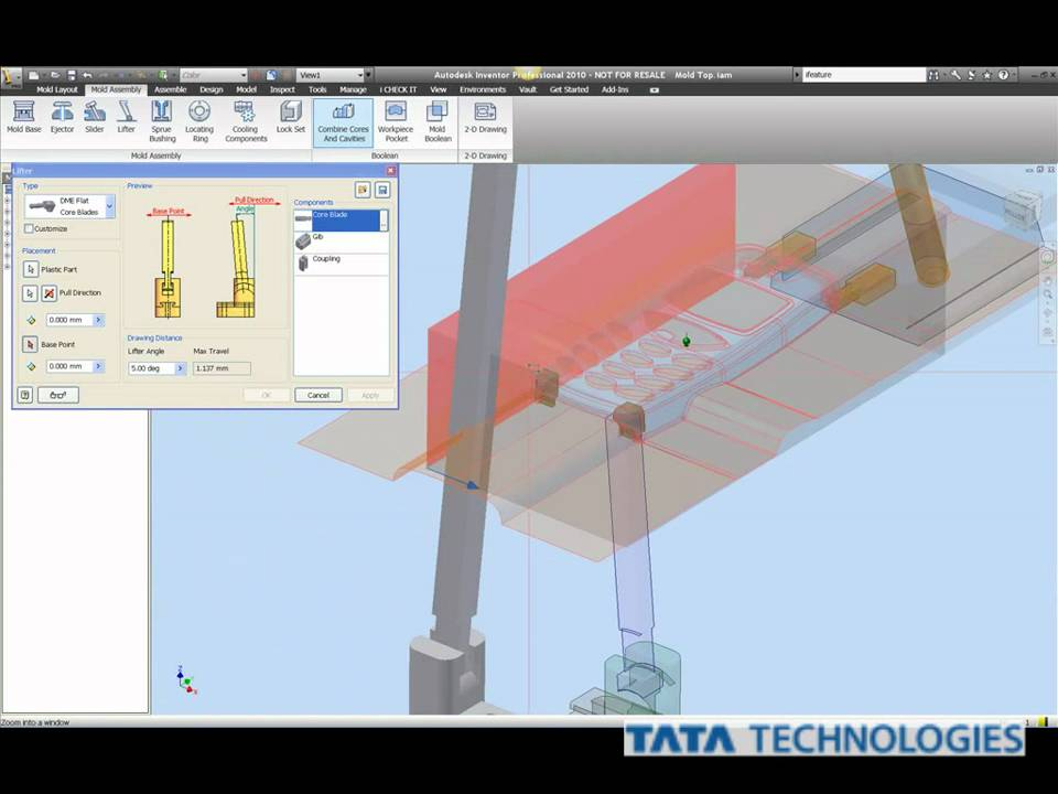 Autodesk Inventor Tooling Tutorial - Mold Structural Assembly Part2 wmv