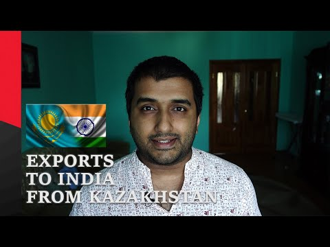 Products exported from Kazakhstan to India