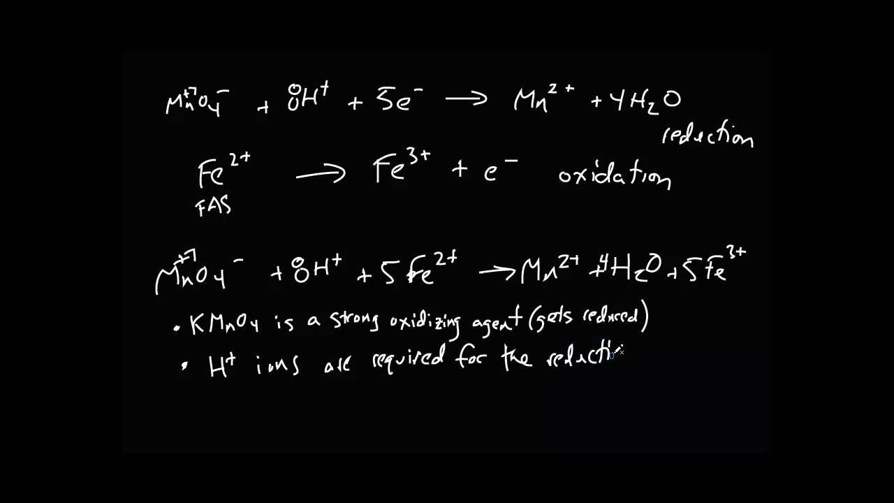 General Chemistry - Standardization of KMnO4 By Redox Titration
