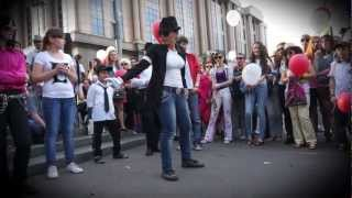 Майкл Джексон Michael Jackson - Флешмоб  25.06.2012 Москва