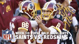Saints & Redskins Trade TDs in Big 1st Half (Week 10)   NFL