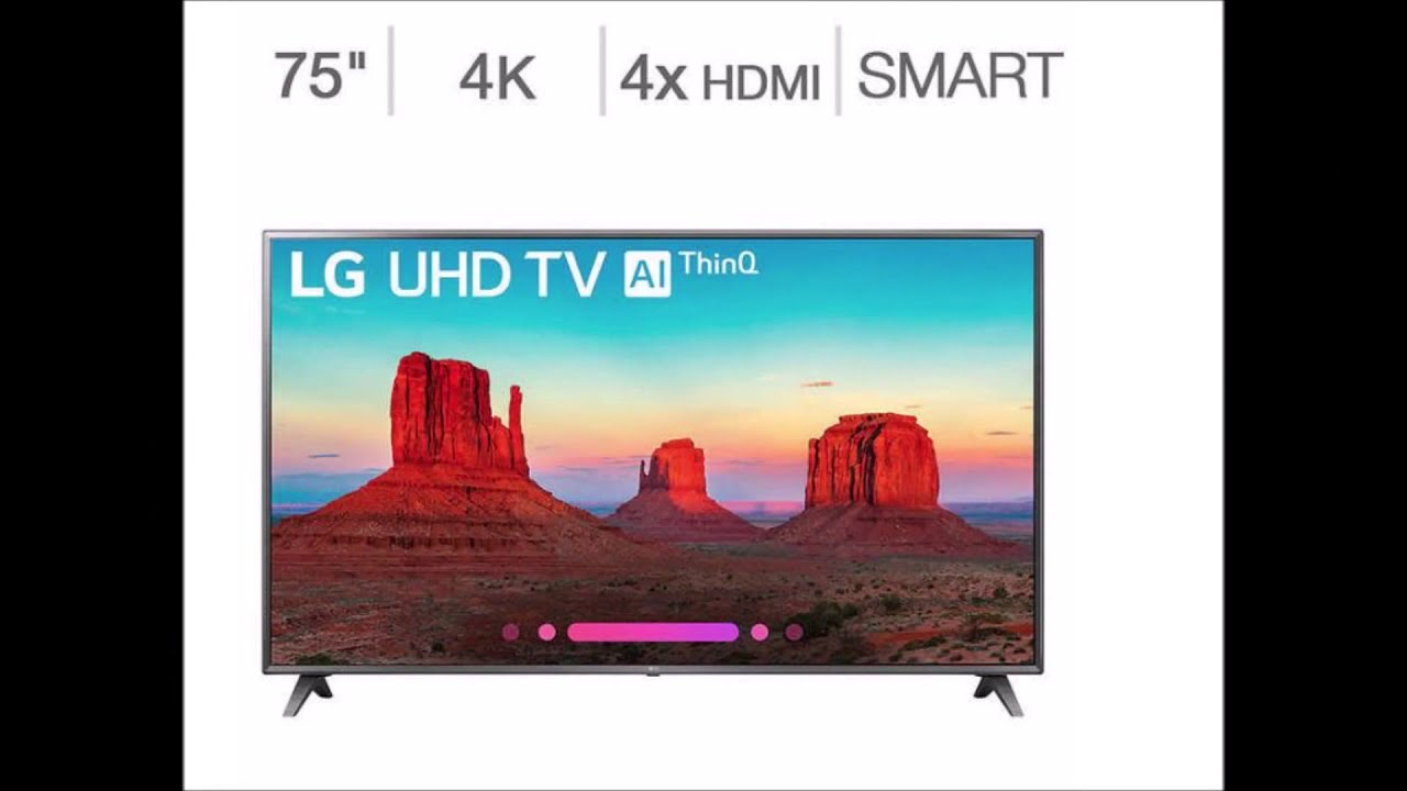 Lg 75uk6570aua 75 Inch 4k Hdr Smart Led Uhd Tv W Ai Thinq New