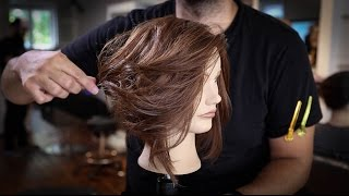 Disconnected Long Bob Haircut Tutorial | How To Cut A LOB Haircut | MATT BECK VLOG 66