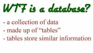 MySQL Database Tutorial - 1 - Introduction to Databases