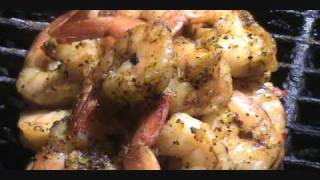 Grilled Shrimp Pegged With Garlic.wmv