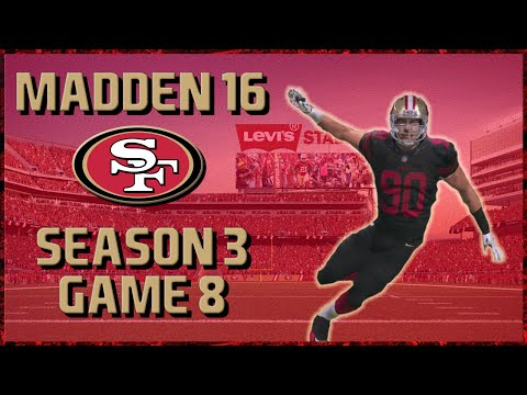 Madden 16 Franchise: San Francisco 49ers | Year 3, Game 8 vs Vikings | Petty Returns!!