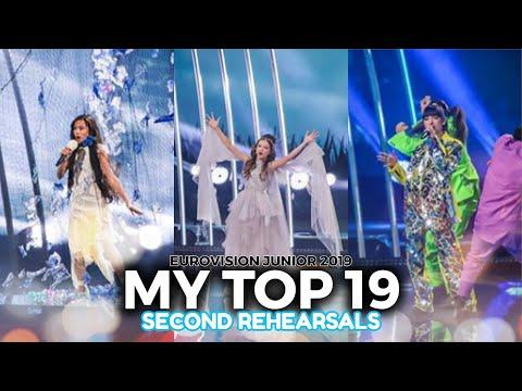 SECOND REHEARSALS: MY TOP 19 | Eurovision Junior 2019 | ESC Martín