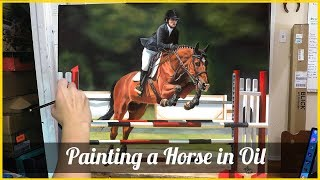 Oil Painting Time Lapse- Horse and Rider