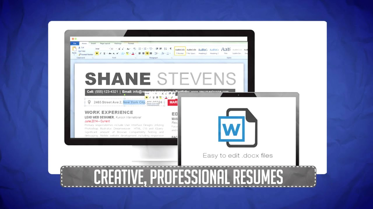 How To Make A Creative Resume Template  Youtube