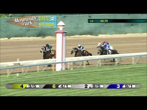 video thumbnail for MONMOUTH PARK 09-07-20 RACE 2