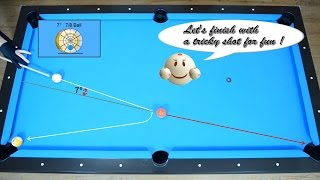How to measure Cut Angle of 7 degrees - 7/8 Ball  - Aiming System - Pool & Billiard Lesson