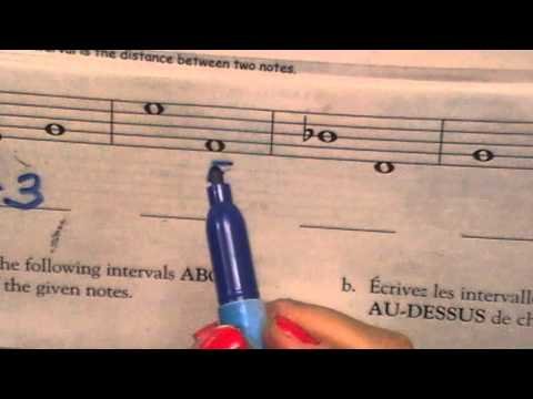 How to write Intervals, Harmonic and Melodic, Basic Theory #3