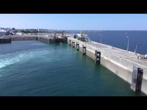 Brittany Ferries MV Armorique Departing Roscoff, Finistère, Brittany France 27th August 2017