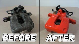 How To rebuild ręar brake caliper with EPB – Audi VW restoration complete Guide