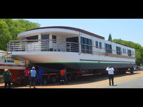 The African Dream Boat passes through Bulawayo
