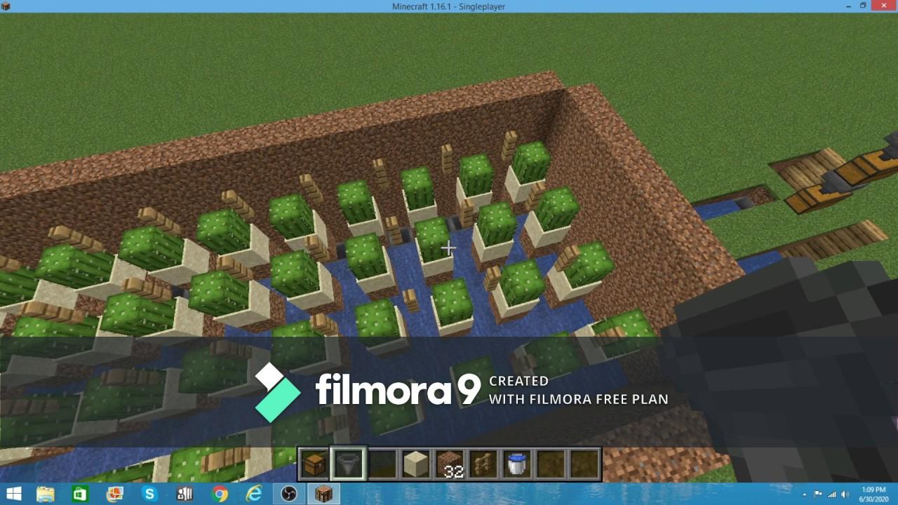 How to Make a Minecraft Cactus Farm - YouTube