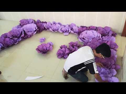 DIY paper flower backdrop , diy wedding party 2
