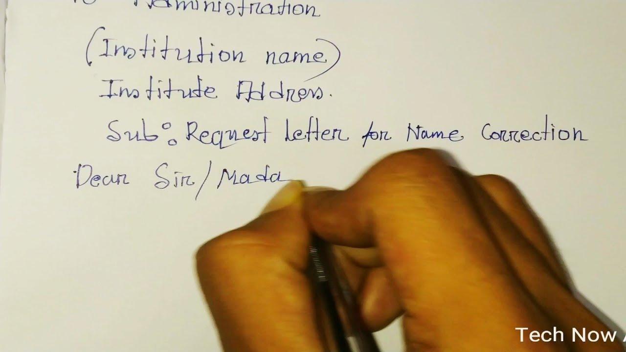 Sample Letter For Correction Of Name from i.ytimg.com