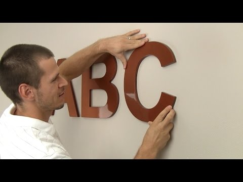 How to Hang Wood Letters for Signs