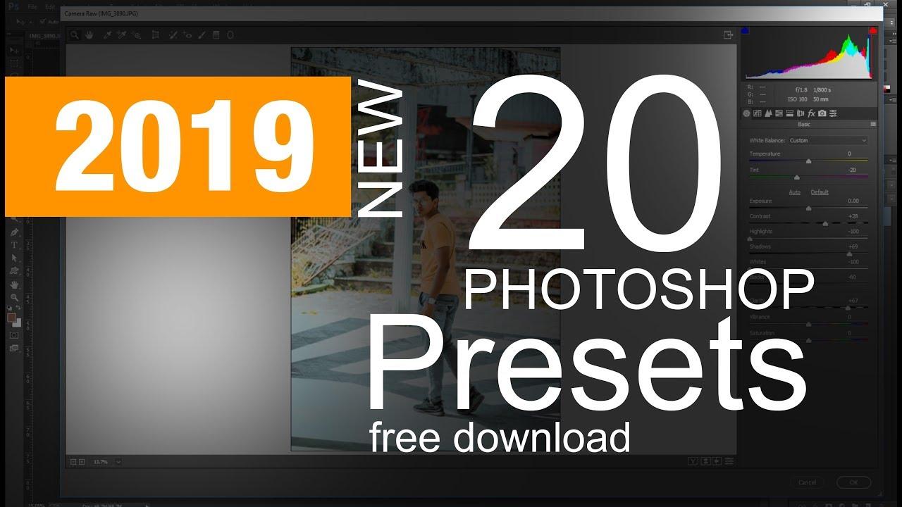 20 photoshop camera raw presets free download 2019 - Tutorial