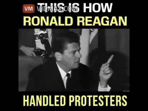 This is how Ronald Reagan handled violent protesters when he was California Governor