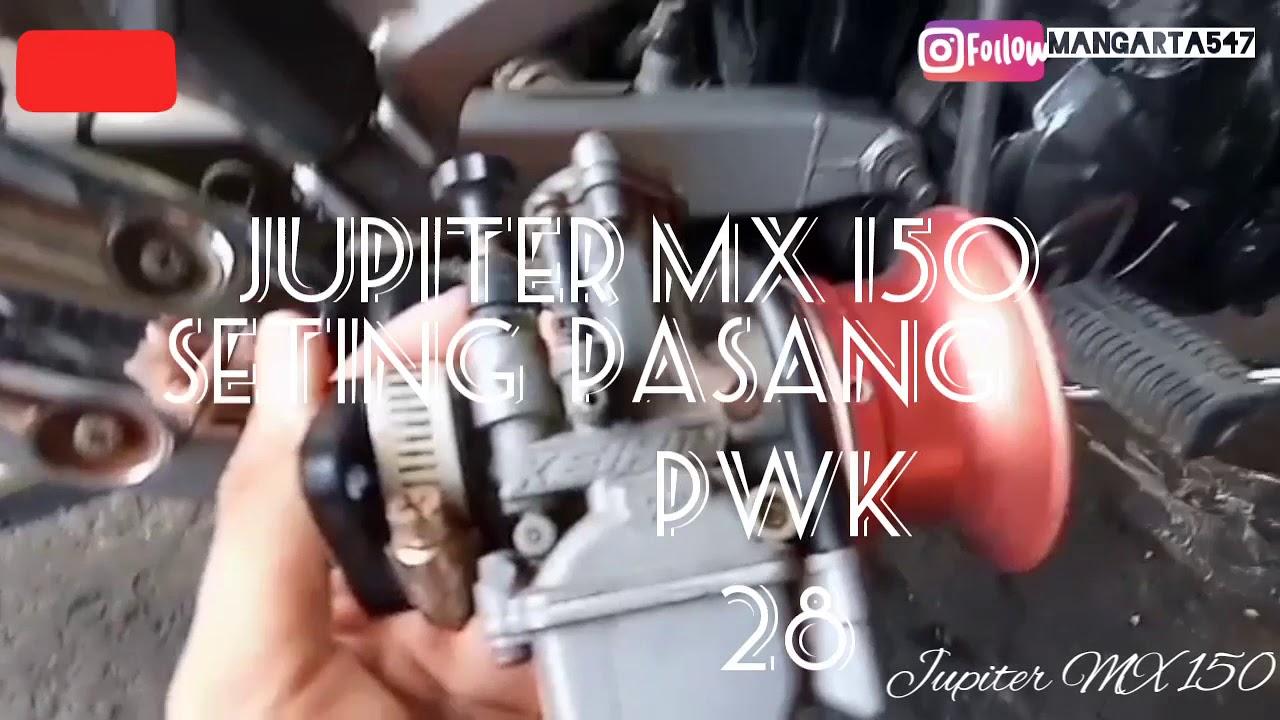 Pasang karbu PWK 28 di Jupiter mx - YouTube
