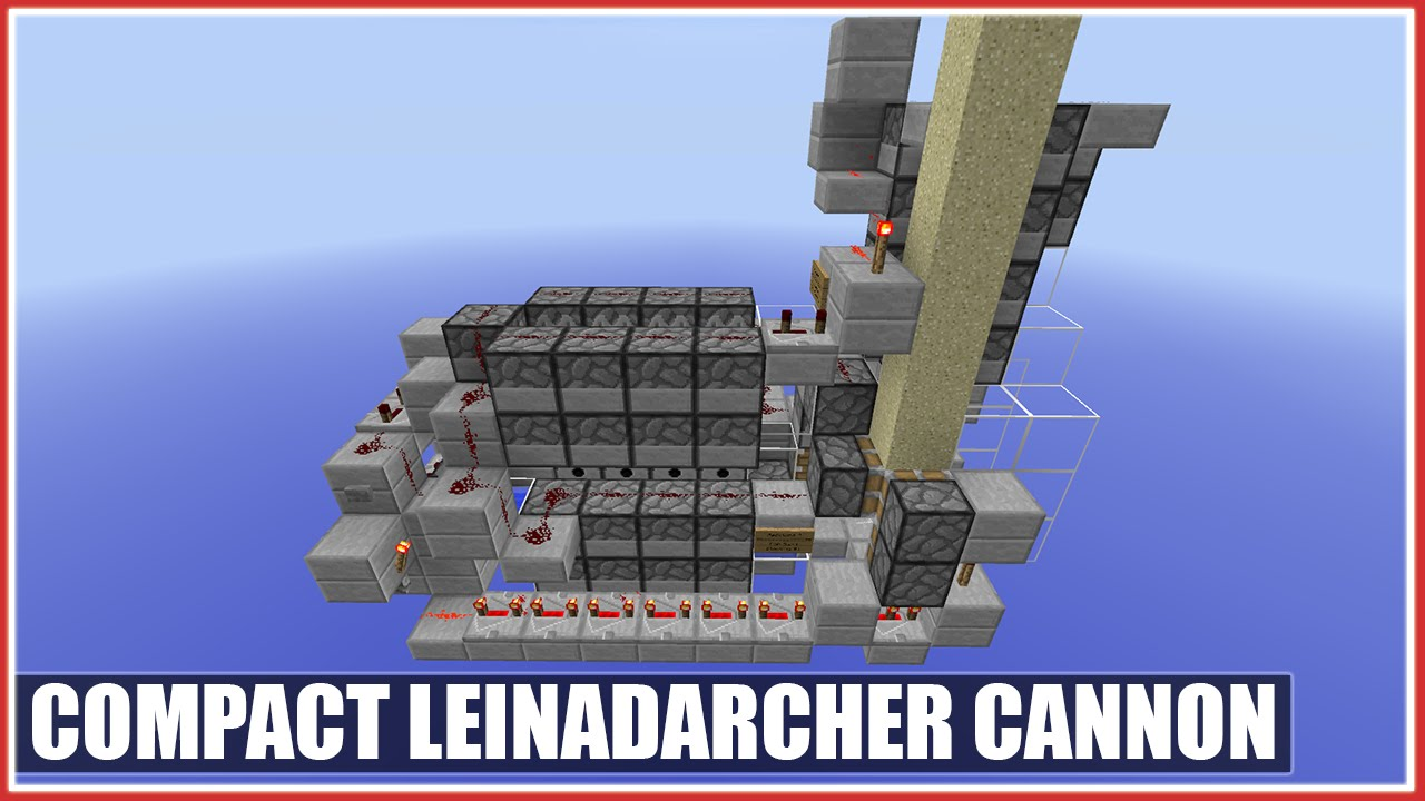 TNT Cannon Tutorial: Mini Leinadarcher Cannon [Insanely Compact] [10 Sand  Stacking] [10+ Chunks]