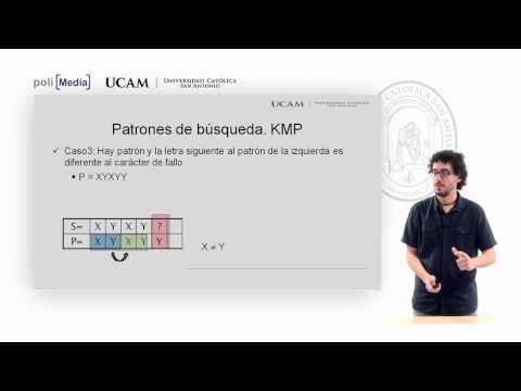 Algoritmia - Tema 3. Algoritmos de Búsqueda. KMP (I) -  Andrés Muñoz Ortega