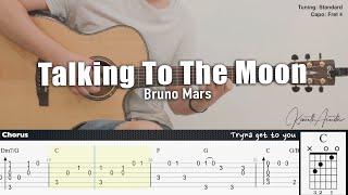 Talking To The Moon - Bruno Mars | Fingerstyle Guitar | TAB + Chords + Lyrics