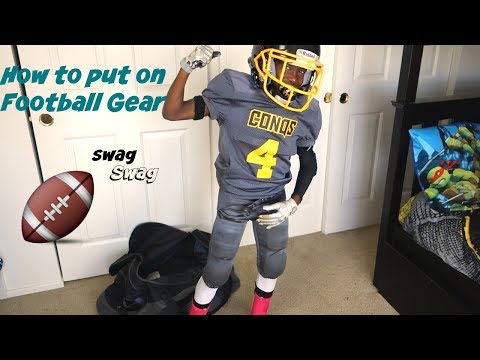How To Put On Football Gear // Football Swag // 13U // Breast Cancer Awareness Edition