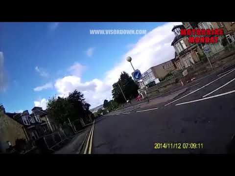 Careless driver pulls out on motorcyclist