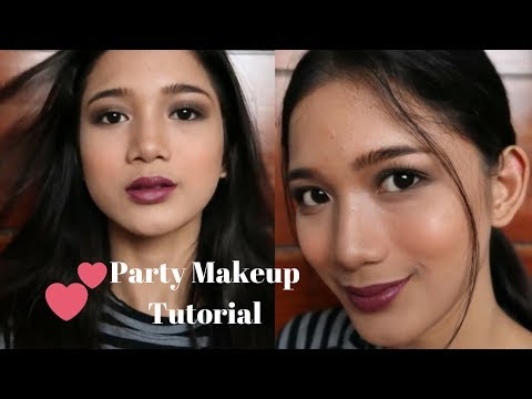 EASY PARTY MAKEUP TUTORIAL CHATTY  Philippines  Tyra C
