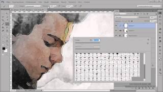 Видеоурок Photoshop Акварельный коллаж