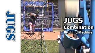 combination pitching machine for baseball and softball   jugs sports