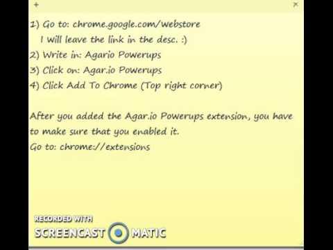 Agar Io: How To Get The Agar Io Powerups Extension - YT