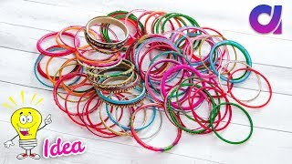 Easy craft: best out of waste bangles/wool craft | Best out of waste/wall hanging | Artkala