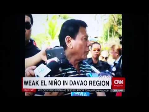 El Niño phenomenon in Davao