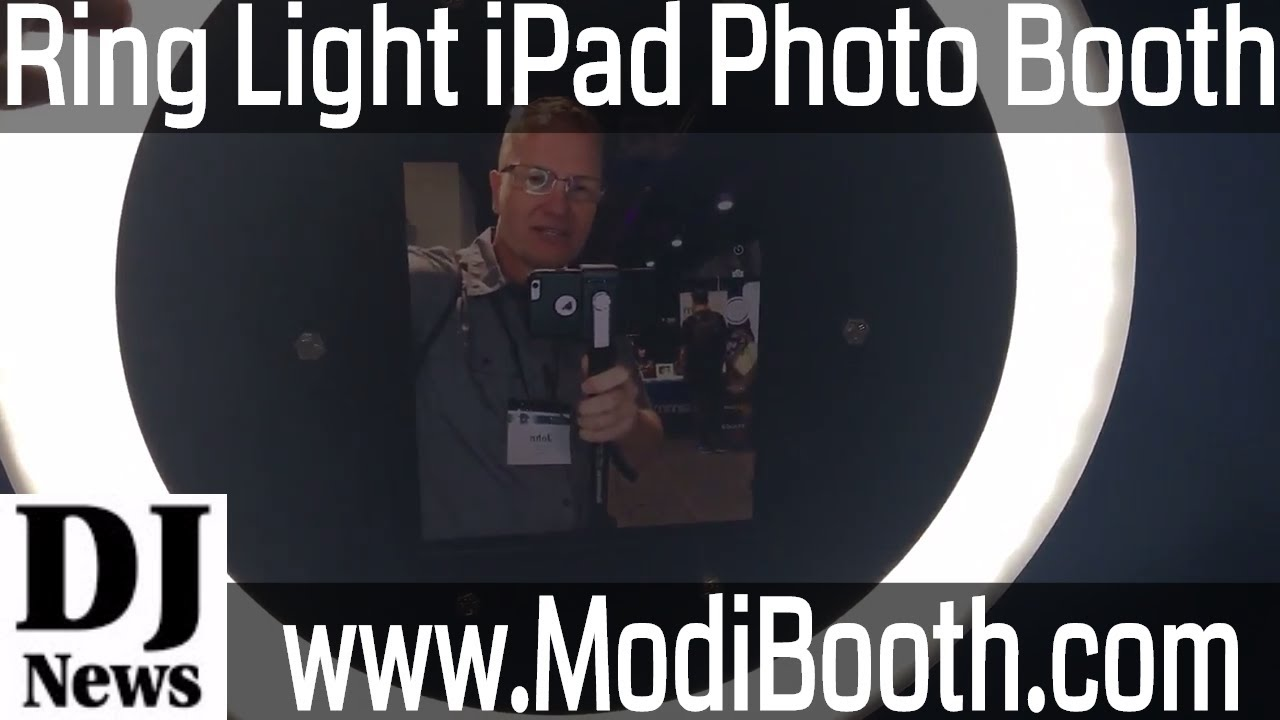 Ring Light Selfie Photo Booth For Ipad And Tablet Set Up DJ Upsell