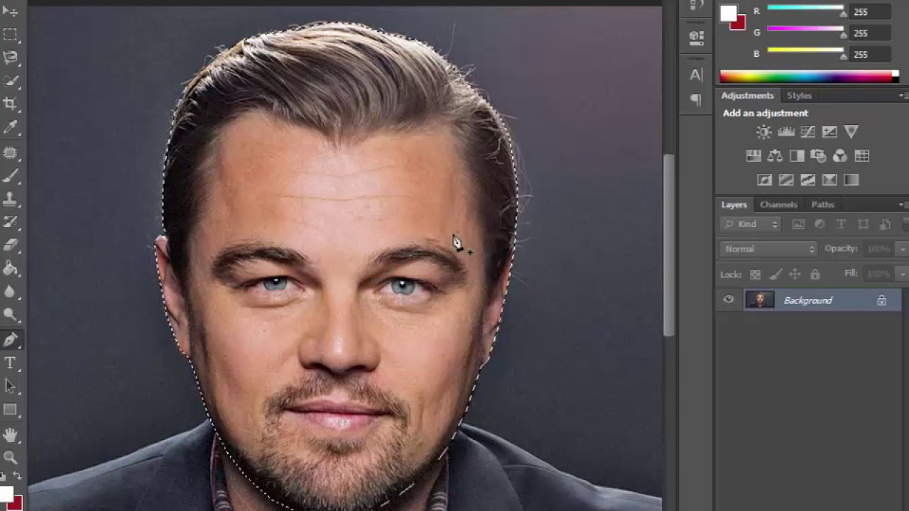 How To Cut out a Face in photoshop cs6