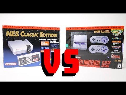 SNES CLASSIC VS NES CLASSIC