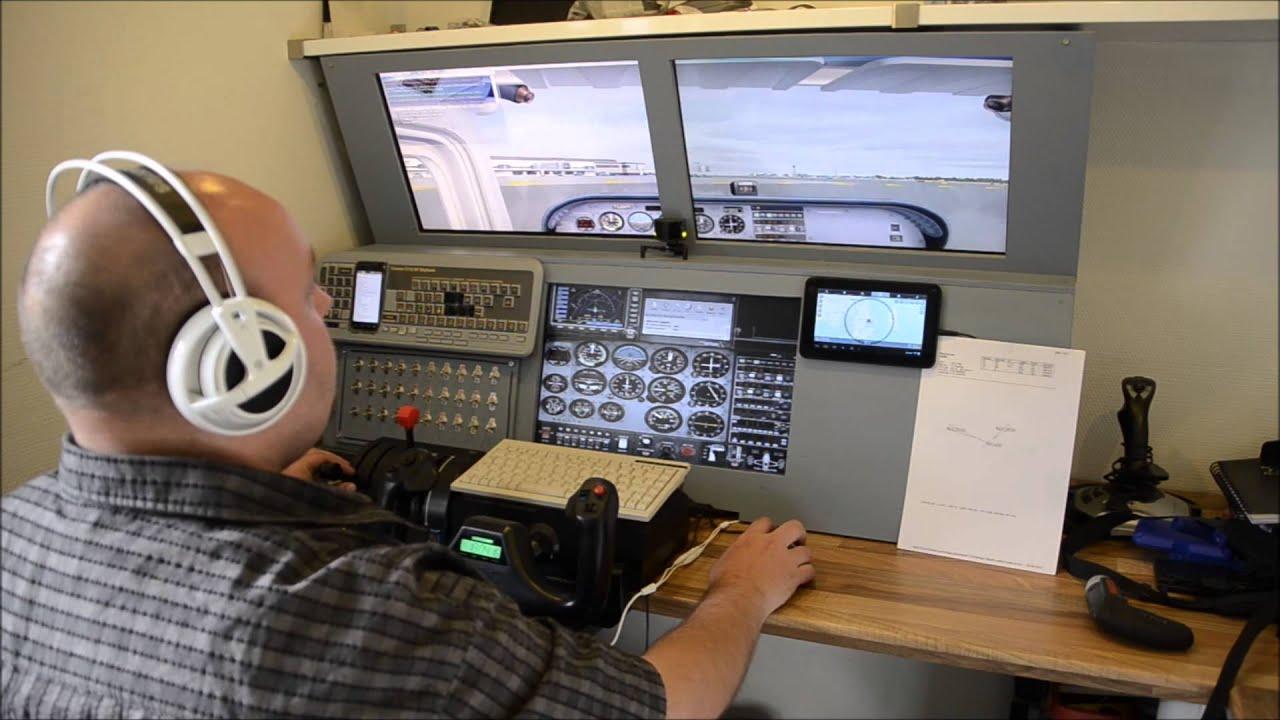 Homebuilt cessna 172 flight simulator cockpit cons youtube for Home building simulator