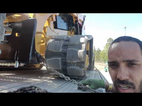 Trucking | How To Secure CAT Mini Tractors | LoShawn Parks
