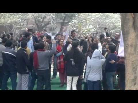 SLOGANS OF JNU, Students of JNU shouting slogans for social justice,good governance.